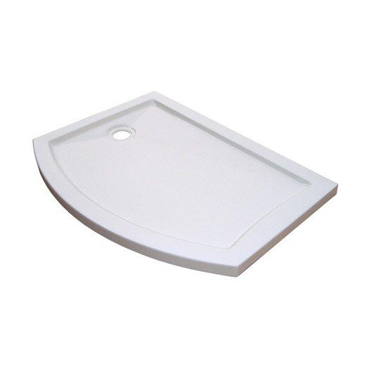 receveur de douche x cm acrylique blanc look version gauche leroy merlin. Black Bedroom Furniture Sets. Home Design Ideas