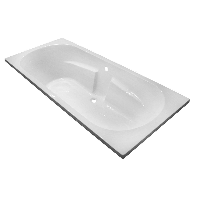 Baignoire rectangulaire L.180x l.80 cm blanc, SENSEA Access confort