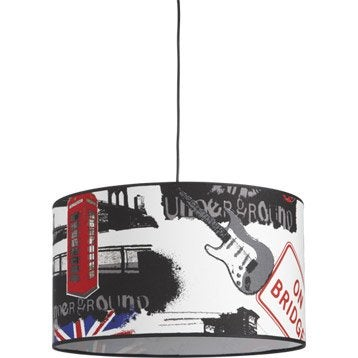 Suspension English METROPOLIGHT, multicolore, 60 watts, diam. 39 cm