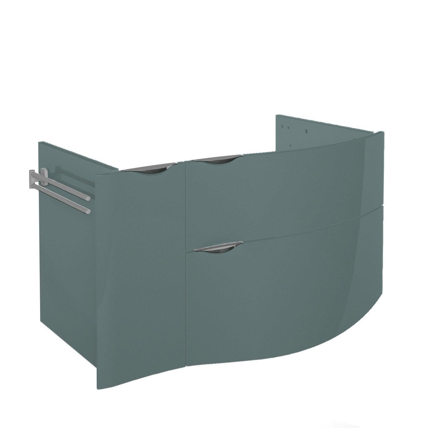 meuble sous vasque x x cm vert elegance leroy merlin. Black Bedroom Furniture Sets. Home Design Ideas