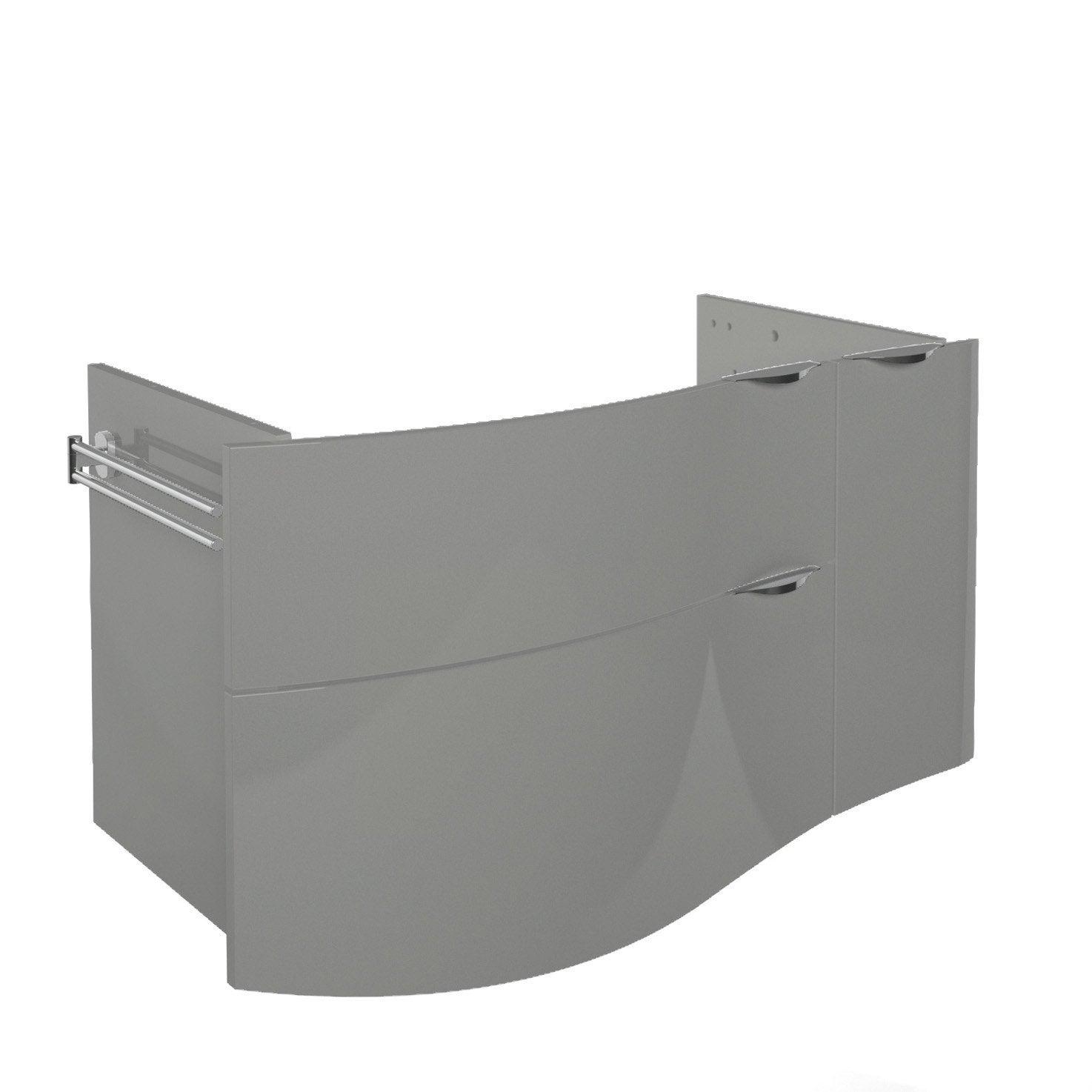 meuble sous vasque x x cm gr ge elegance leroy merlin. Black Bedroom Furniture Sets. Home Design Ideas