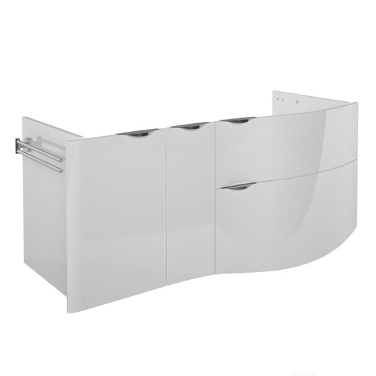 meuble sous vasque x x cm blanc elegance leroy merlin. Black Bedroom Furniture Sets. Home Design Ideas