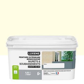 Peinture muret et soubassement LUXENS, meulière, 2.5 l