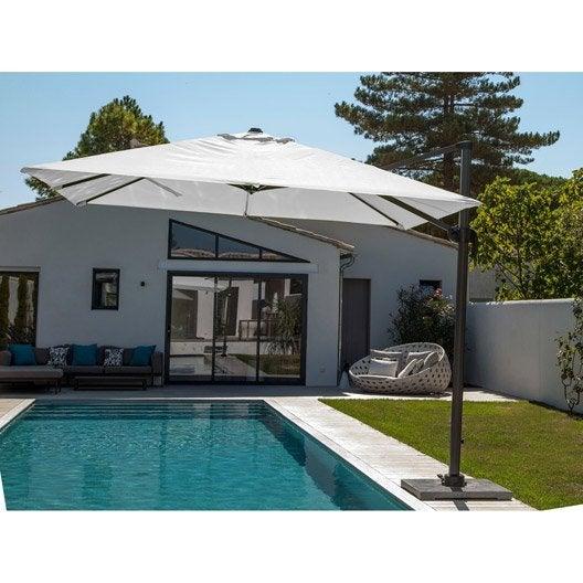 parasol excentr roma ecru carr x cm leroy merlin. Black Bedroom Furniture Sets. Home Design Ideas
