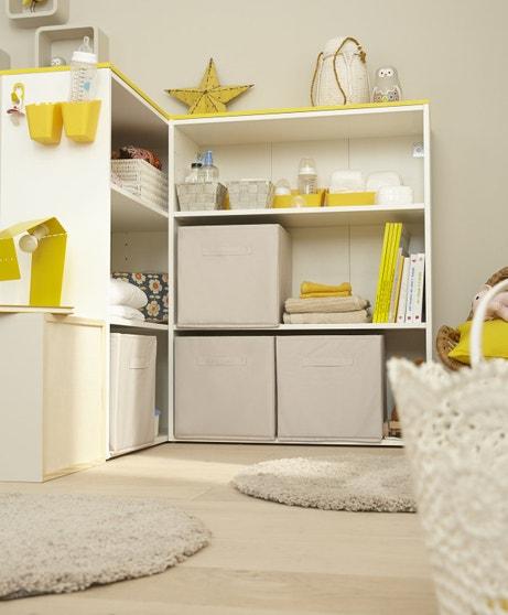 Des caissons de rangement bas pour votre chambre d'enfant