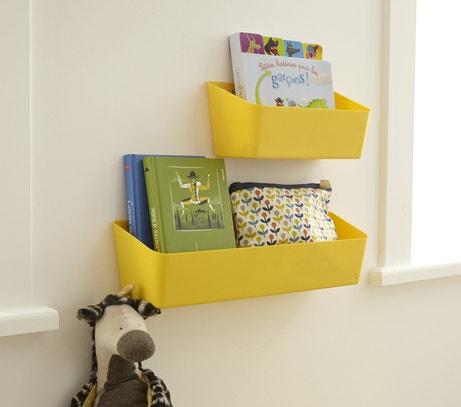 Des petits paniers jaunes pour des petits livres
