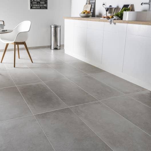 Carrelage sol et mur greige effet b ton harlem x for Carrelage salle de bain effet beton