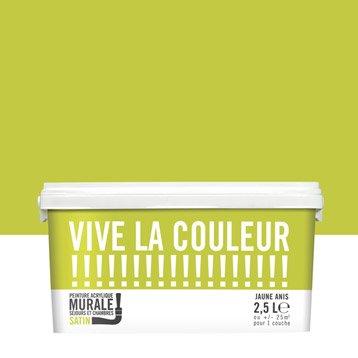 Peinture jaune anis VIVE LA COULEUR! 2.5 l