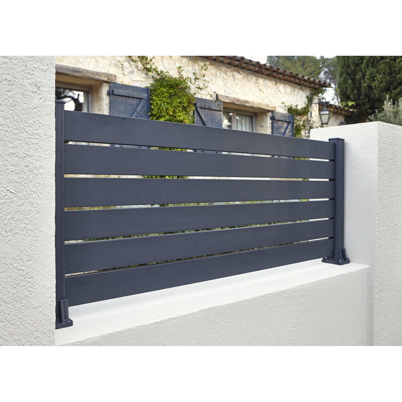 lame de cl ture aluminium klos up naterial gris zingu. Black Bedroom Furniture Sets. Home Design Ideas