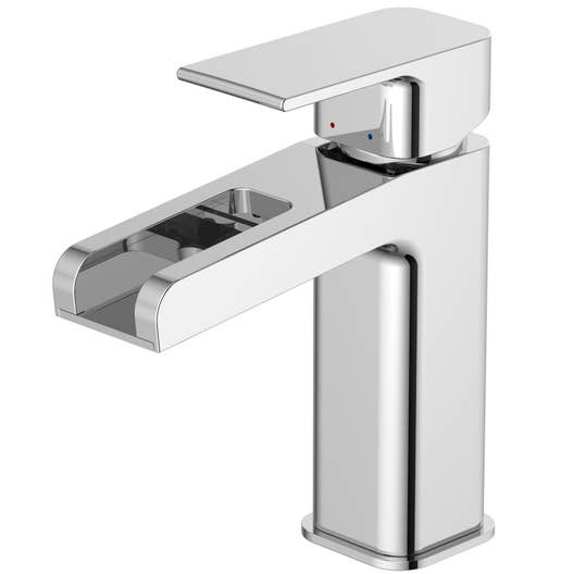 Mitigeur de lavabo cascade chromé brillant, SENSEA Samar | Leroy Merlin
