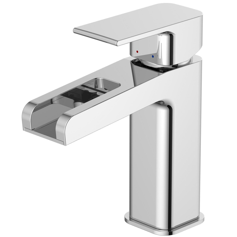 Mitigeur de lavabo cascade chromé brillant, SENSEA Samar | Leroy ...