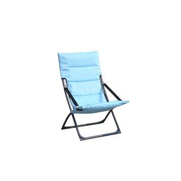 Relax de jardin en tissu Venezia bleu