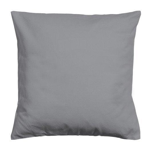 housse de coussin elema inspire gris galet x cm leroy merlin. Black Bedroom Furniture Sets. Home Design Ideas