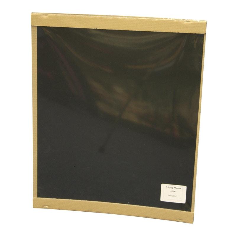 tableau en ardoise magnétique, noir, l.40 x h.50 cm