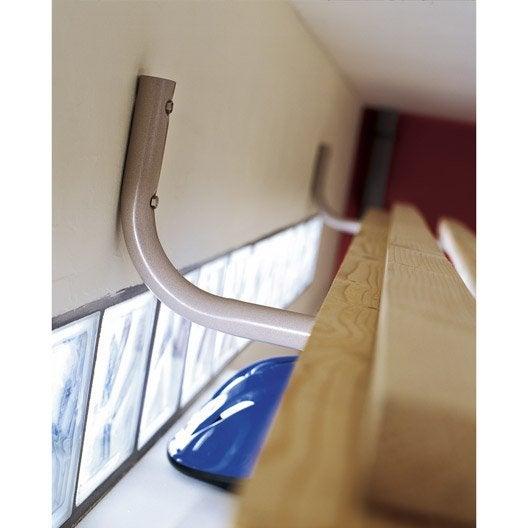 crochet de rangement et rangement de v lo porte v lo leroy merlin. Black Bedroom Furniture Sets. Home Design Ideas