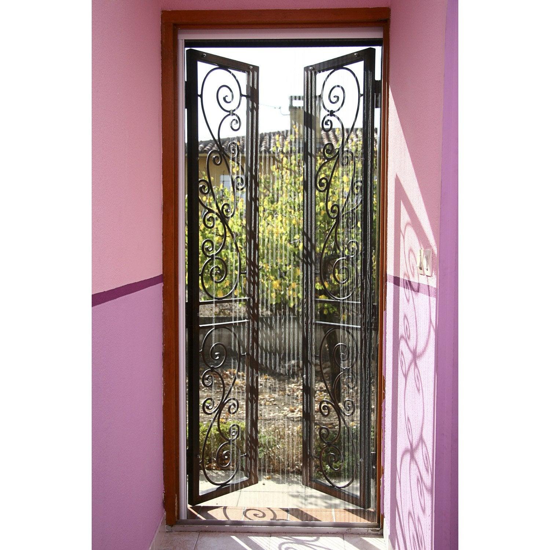 Moustiquaire Pour Porte Plissée KOCOON H X L Cm Leroy Merlin - Moustiquaire pour porte fenetre