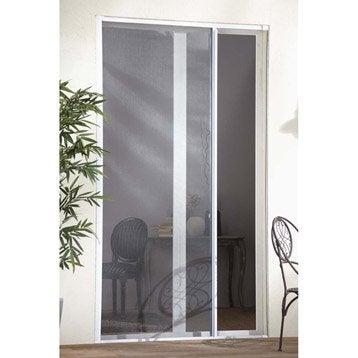 Moustiquaire pour porte fen tre artens enroulement horizontal blanc 250x100 cm - Moustiquaire pour porte fenetre ...