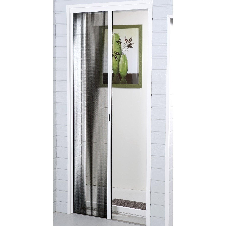 Moustiquaire Pour Porte Fenêtre Plissée Moustikit H230 X L140 Cm