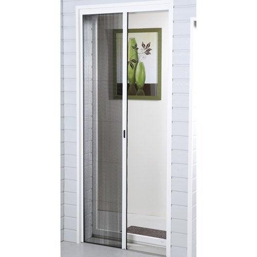 moustiquaire pour porte pliss e moustikit x cm leroy merlin. Black Bedroom Furniture Sets. Home Design Ideas