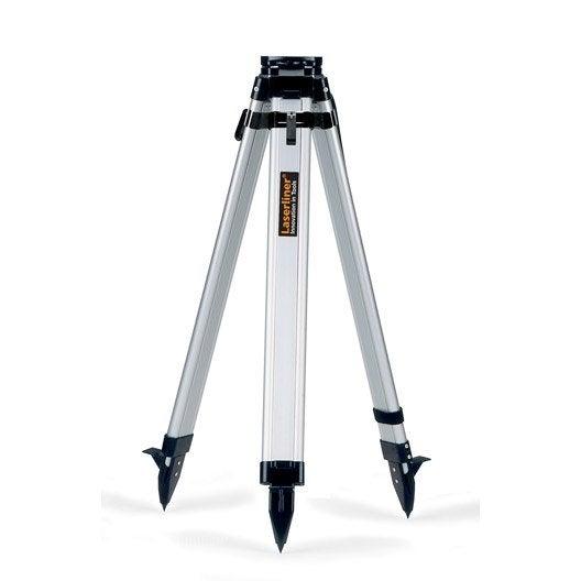 Tr pied laserliner l ger alu 165 cm leroy merlin for Niveau laser rotatif magnusson