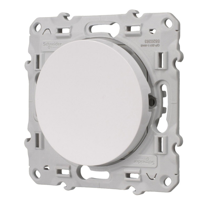 Interrupteur Va Et Vient à Voyant Lumineux Odace Schneider Electric Blanc
