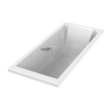 Baignoire rectangulaire Premium confort SENSEA, acrylique, 175x75 cm