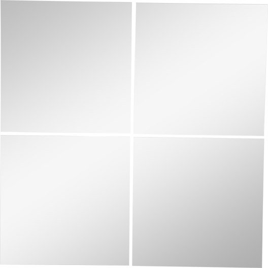lot de 4 miroirs non lumineux adh 233 sifs carr 233 s l 30 x l 30 5 cm leroy merlin