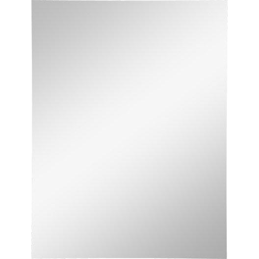 miroir non lumineux d coup rectangulaire x cm poli leroy merlin. Black Bedroom Furniture Sets. Home Design Ideas