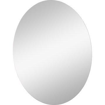 Miroir non lumineux découpé ovale l.60 x L.45 cm Poli