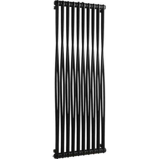 radiateur chauffage central acier tesi memory noir 1494w leroy merlin. Black Bedroom Furniture Sets. Home Design Ideas