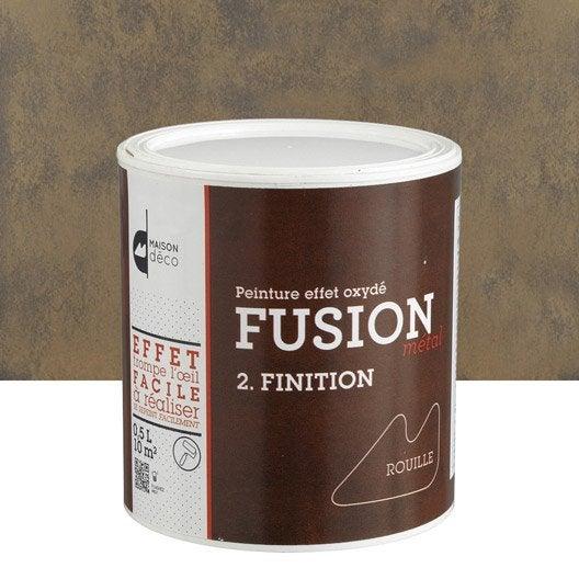 Peinture décorative, Fusion métal MAISON DECO, effet rouille, 0.5 l