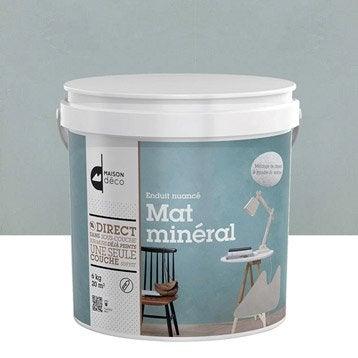 enduit d coratif mat min ral maison deco bleu fjord 6 kg. Black Bedroom Furniture Sets. Home Design Ideas