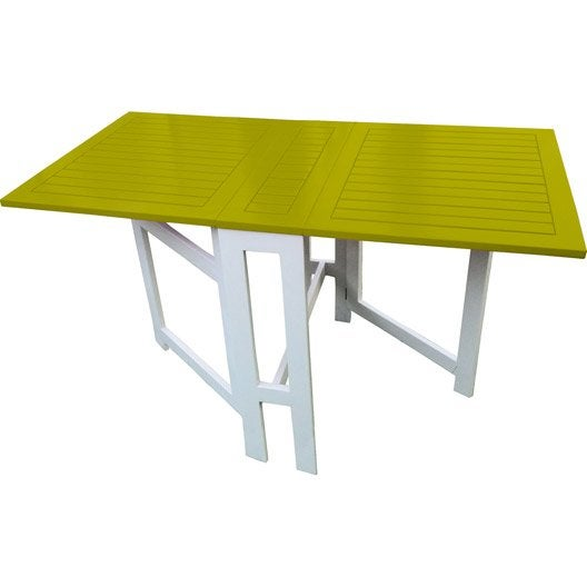 Table de jardin city green burano rectangulaire vert 6 for Table de cuisine pliante leroy merlin