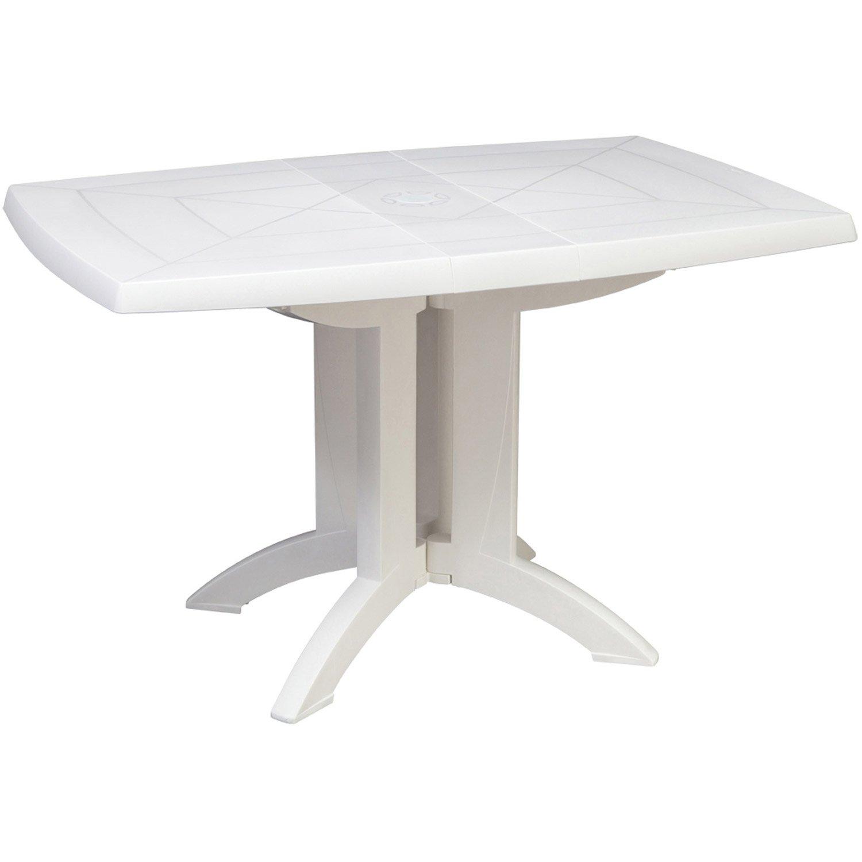 table de jardin grosfillex v ga rectangulaire blanc 4 personnes leroy merlin. Black Bedroom Furniture Sets. Home Design Ideas