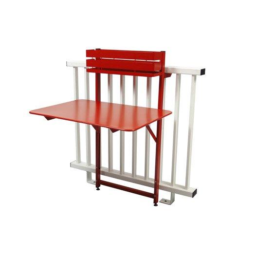 table de jardin fermob bistro rectangulaire coquelicot 2 personnes leroy merlin. Black Bedroom Furniture Sets. Home Design Ideas