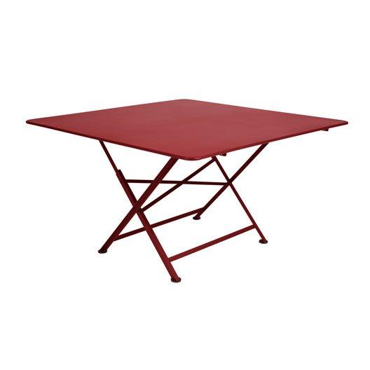 Table de jardin fermob cargo carr e piment 8 personnes - Table de jardin carree 8 personnes ...