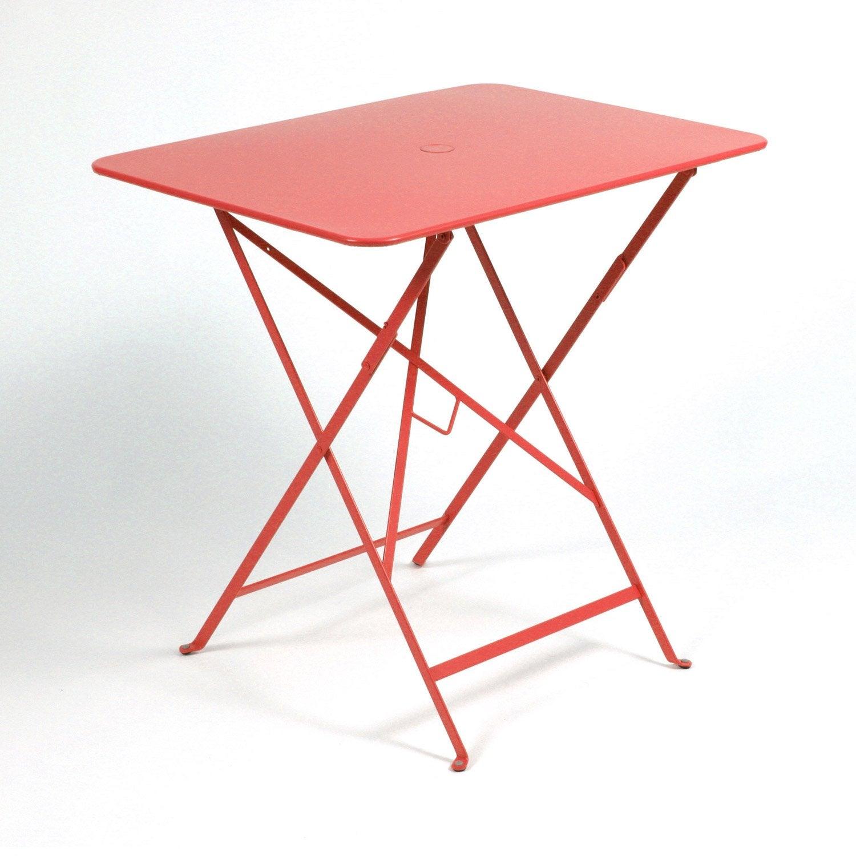 Table de jardin fermob bistro rectangulaire coquelicot - Table de jardin fermob soldes ...