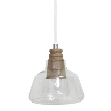 Suspension Plymouth bois transparent 1 x 40 W SEYNAVE