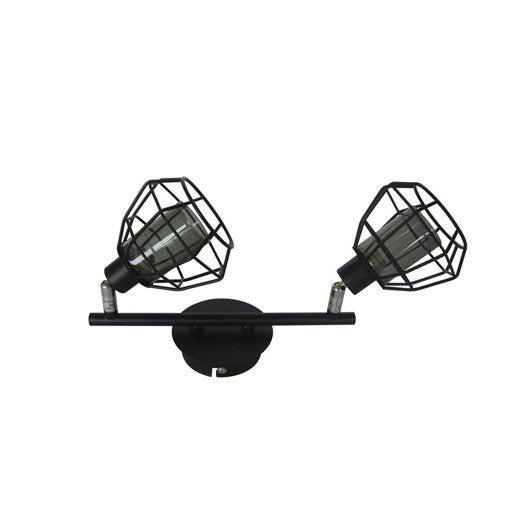 Rampe 2 spots sans ampoule 2 x g9 noir nerio inspire - Ampoule lumiere noire leroy merlin ...