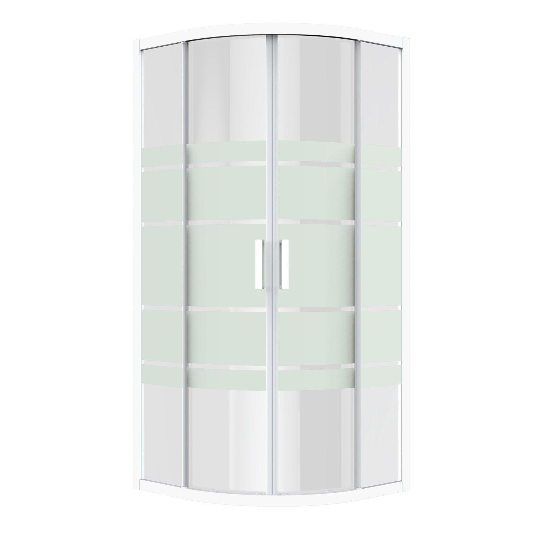 Porte de douche coulissante angle 1 4 de cercle 90 x 90 cm s rigraphi charm leroy merlin - Porte de douche 90 ...