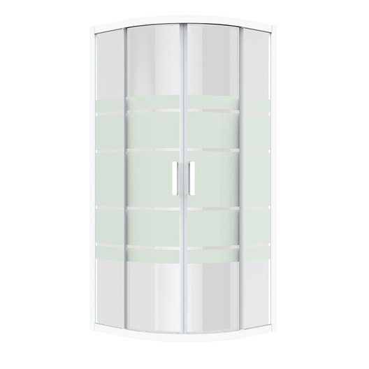 Porte de douche coulissante angle 1 4 de cercle 90 x 90 cm s rigraphi charm leroy merlin - Porte de douche d angle coulissante ...
