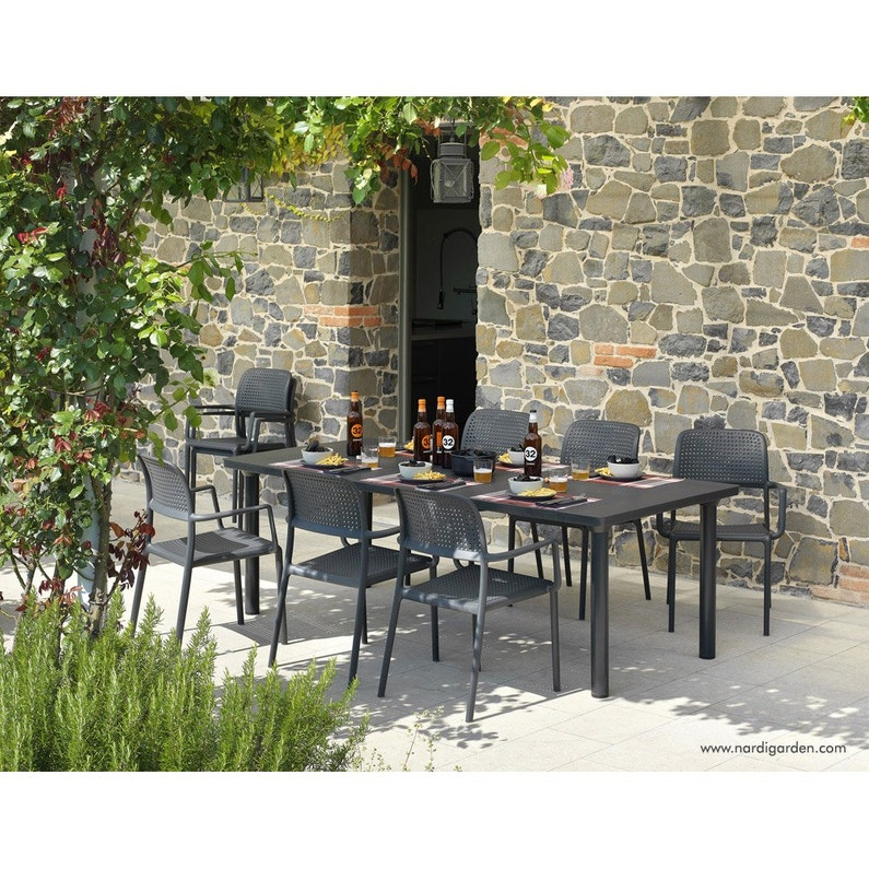 Table NARDI Libeccio rectangulaire anthracite 6/8 personnes | Leroy ...