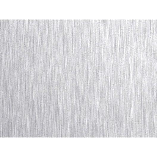 film adh sif placage de porte d coratif d cor aluminium bross x cm leroy merlin. Black Bedroom Furniture Sets. Home Design Ideas