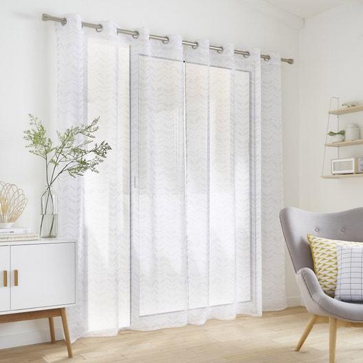 voilage tamisant arrow gris jaune x cm. Black Bedroom Furniture Sets. Home Design Ideas