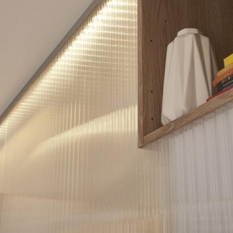 Un puit de lumière avec ces plaques en polycarbonate