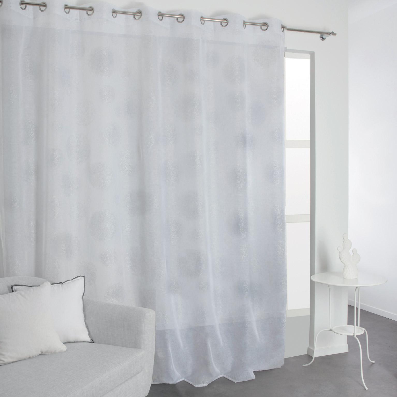 Voilage Transparent Blanc L285 X H240 Cm