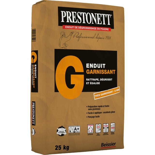 Enduit De Rénovation Et Garnissant Poudre G Blanc Prestonett 25 Kg