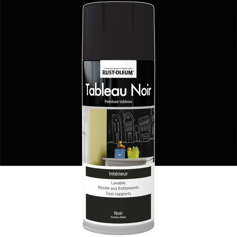 Peinture Aerosol Tableau Noir Mat Rustoleum Noir 0 4 L