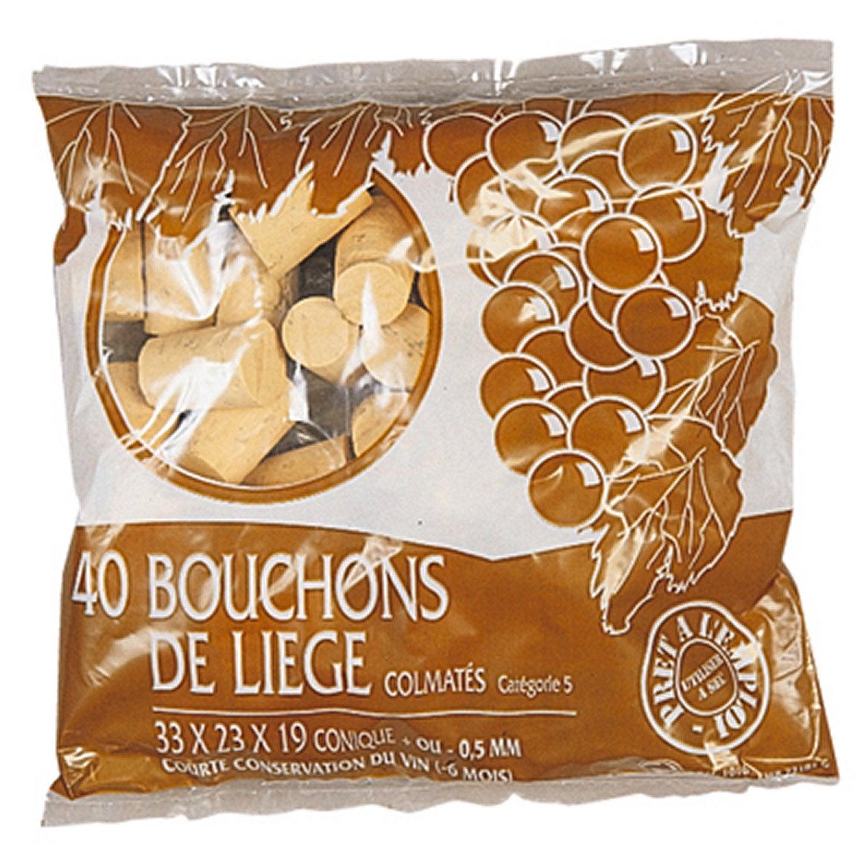 Lot De 40 Bouchons Liège Leroy Merlin