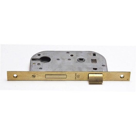 Serrure encastree bricard a cylindre axe 45 mm leroy for Porte de garage enroulable avec cylindre bricard